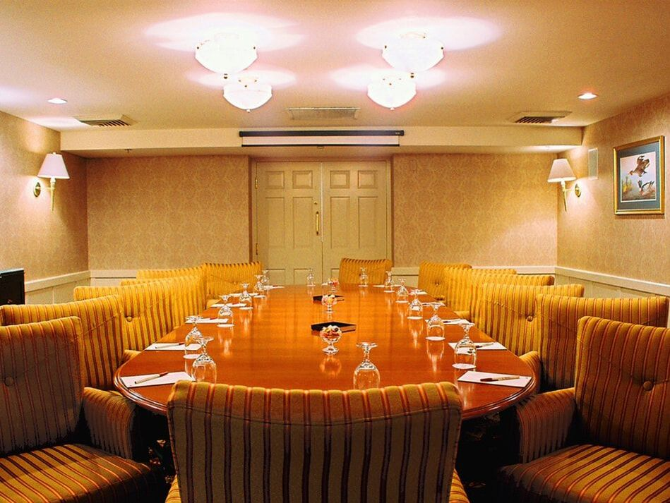 Private room ideal for a boardroom meeting